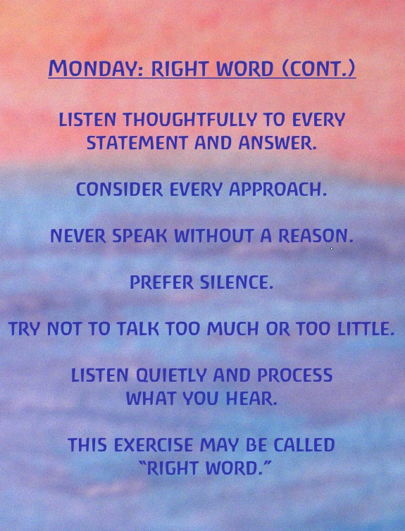 Number Names Worksheets days of the week exercises : Monday: Right Word Exercises for the Days of the Week by Rudolf ...