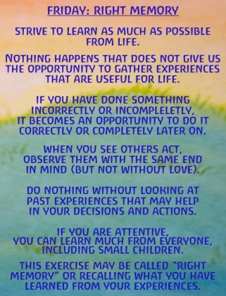 Friday: Right Memory Exercises for the Days of the Week by Rudolf Steiner |  Well Wishers Group