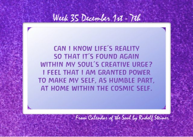35. Dec 1-7 Calendar of the Soul