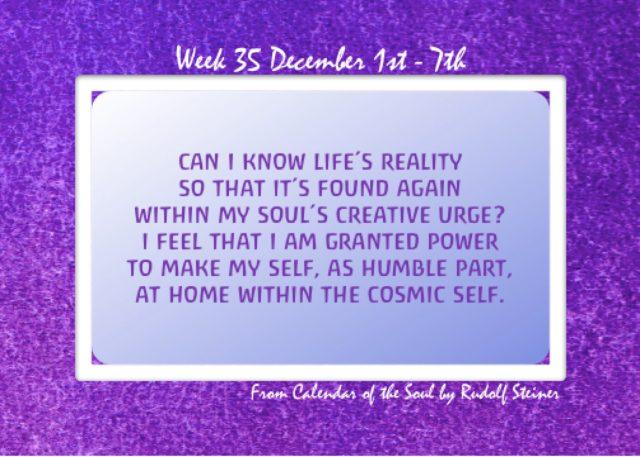 35. Dec 1-7 Calendar of the Soul