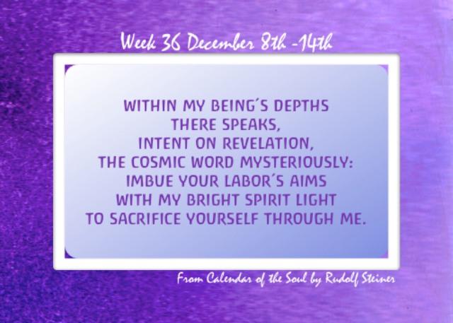 36. Dec 8-14 Calendar of the Soul