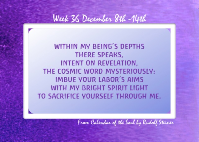 36. Dec 8-14 Calendar of the Soul