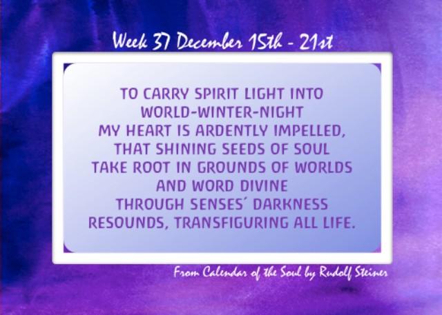 37. Dec 15-21 Calendar of the Soul