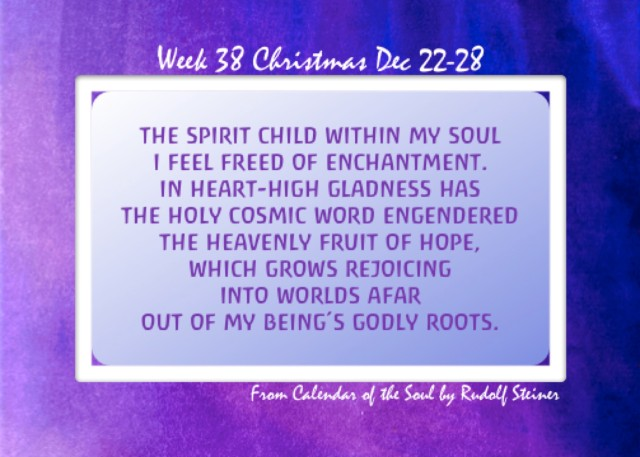 38. Christmas Dec 22-28 Calendar of the Soul