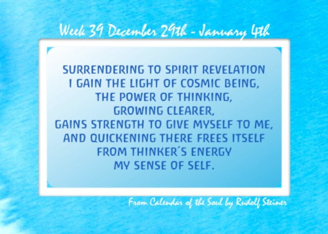 39. Dec 29- Jan 4 Calendar of the Soul