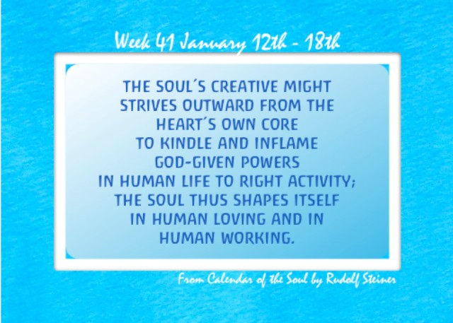 41. Jan 12-18 Calendar of the Soul