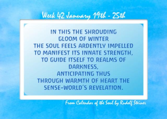 42. Jan 19-25 Calendar of the Soul