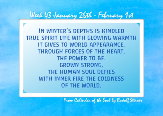 43. Jan 26 - Feb 1 Calendar of the Soul