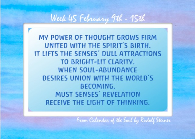 45. Feb 9-15 Calendar of the Soul
