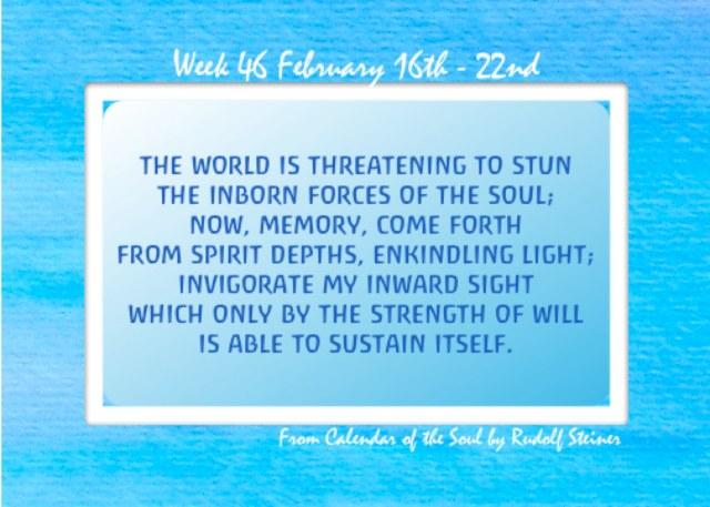 46. Feb 16-22 Calendar of the Soul