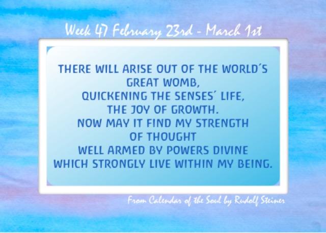 47. Feb 23 - March 2 Calendar of the Soul