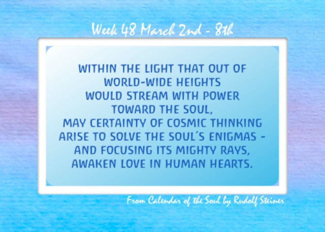 48. March 3 - 9 Calendar of the Soul