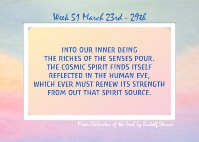 51. March 23-29 Calendar of the Soul