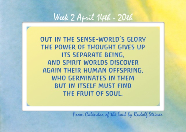 2. April 14-20 Calendar of the Soul