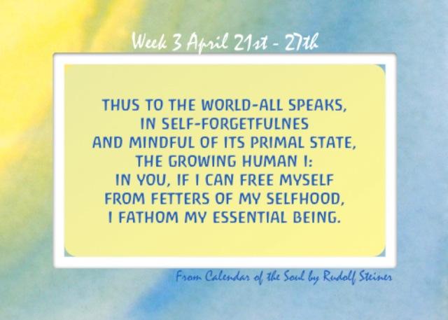 3. April 21-27 Calendar of the Soul
