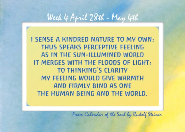 4. April 28 - May 4 Calendar of the Soul