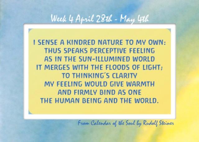 4. April 28 - May 4 Calendar of the Soul