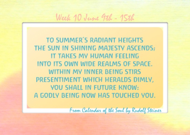 10. June 9-15 Calendar of the Soul