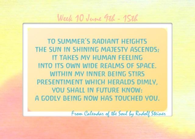 10. June 9-15 Calendar of the Soul