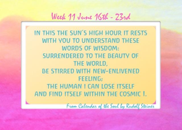 11. June 16-23 Calendar of the Soul