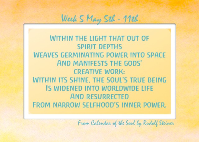 5. May 5 - 11 Calendar of the Soul