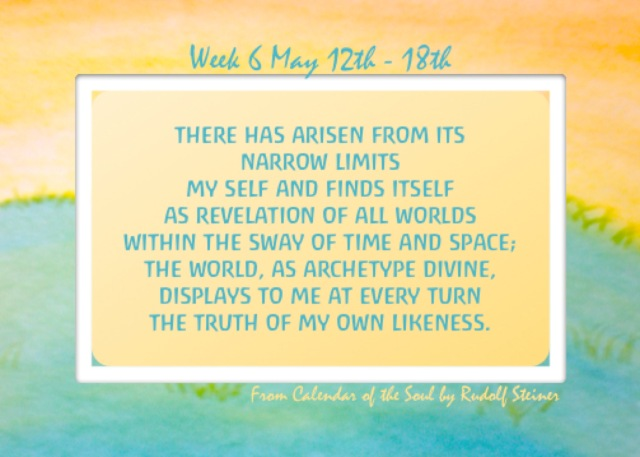 6. May 12-18 Calendar of the Soul