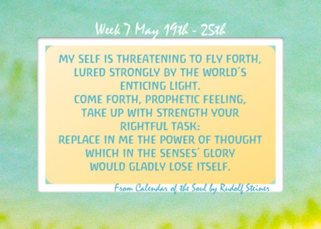 7. May 19-25 Calendar of the Soul