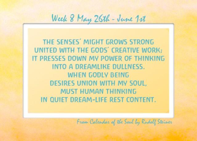8. May 26- June 1st Calendar of the Soul