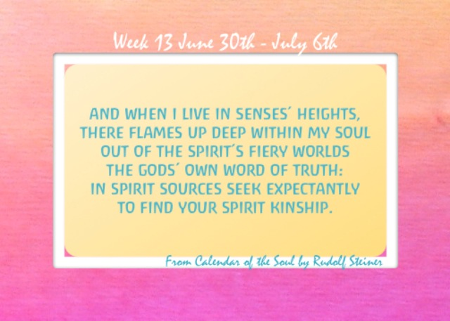 13. June 30-July 6 Calendar of the Soul