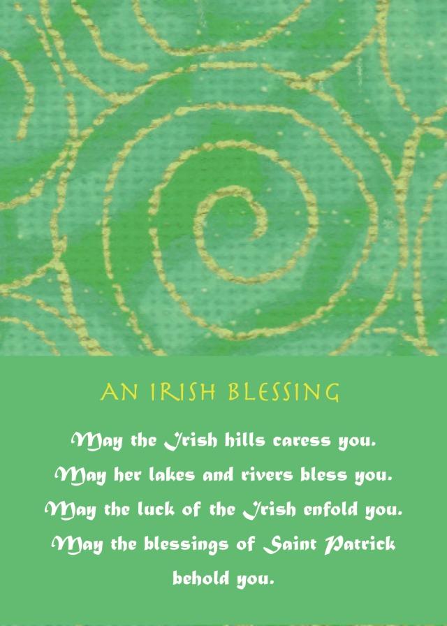 May the irish hills caress you