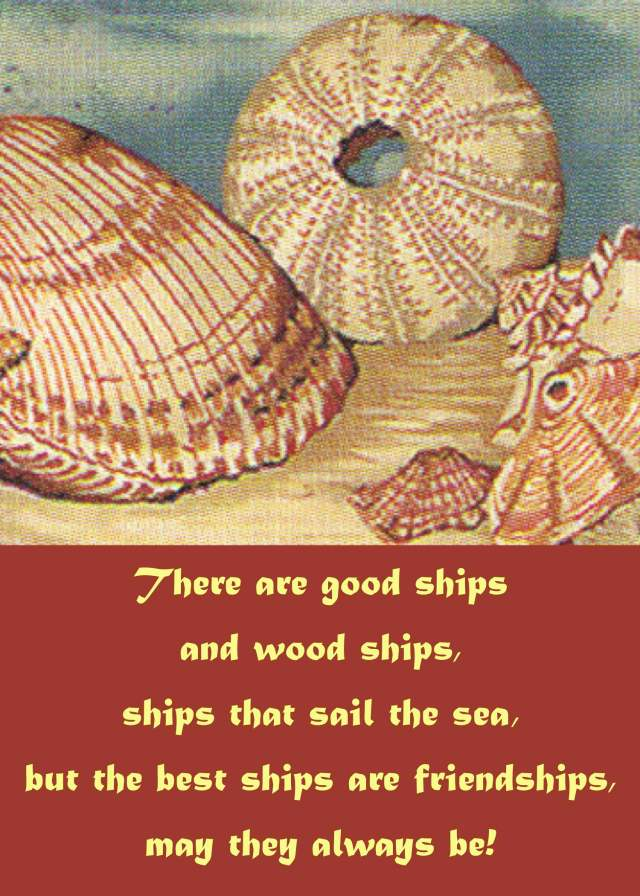 There are good ships and wood ships